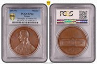 1839 GREECE MEDAL BY K. LAGE, ATHENS UNIVERSITY, PCGS SP-62, TOP OF POP !!!!!!