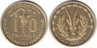 Französische Kolonien Westafrika Probe 10 Francs 1957