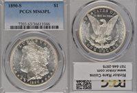 1890-S MS63 PL PCGS $1