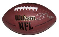 A Wilson NFL football signed by Jeremy Shockey of the New Orleans Saints. Comes with a Certificate of Authenticity.