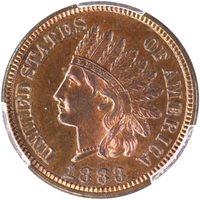 1883 1C Indian Cent PCGS PR64RB CAC
