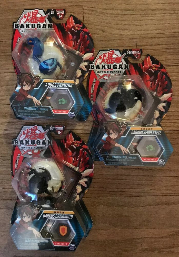 NIP BAKUGAN Battle Planet *BATTLE BRAWLERS CARD COLLECTION* Dragonoid Bakucores