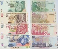 Mixed 2005 South Africa Same Numbered Banknotes