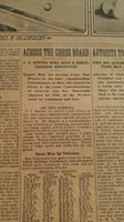 MAR 4, 1906 NEWSPAPER PAGE #J5679- HOPPE, SLOSSON + SAM LOYD CHESS PROBLEM #400