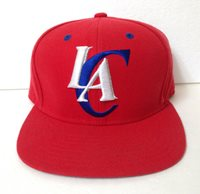 adidas LOS ANGELES CLIPPERS SNAPBACK HAT red white blue LAC LA trefoil men/women