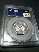 2000-S SOUTH CAROLINA PROOF QUARTER 25c PCGS PR69DCAM SILVER FLAG LABEL