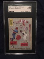 1984 Topps Rub Downs Pete Rose Ricky Henderson Righetti SGC 88 NM/MT
