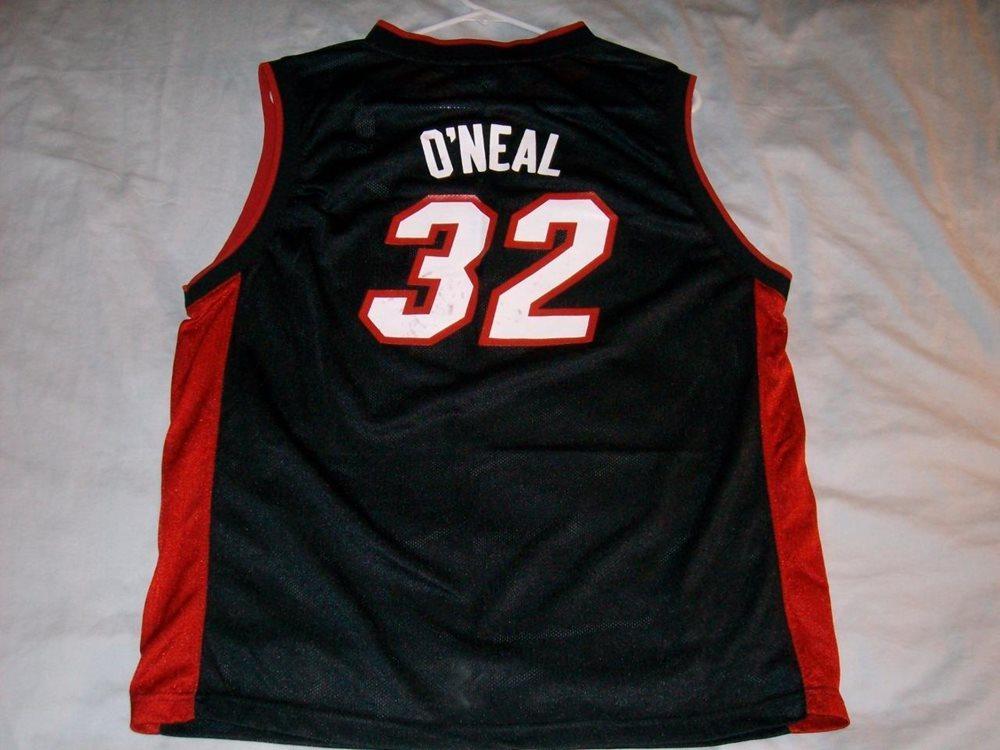d77520595 Shaquille O Neal Shaq 32 Miami Heat NBA Reebok Black Je