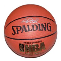 A Spalding NBA basketball signed by Chris Bosh of The Toronto Raptors. Comes with a Certificate of Authenticity.