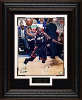 Dwayne Wade Autographed Miami Heat Display