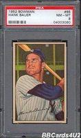 1952 Bowman #65 HANK BAUER PSA 8 NM-MT Yankees