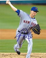 Jeremy Hefner New York Mets Autographed 8x10 Photo - Authentic Signed Sports Autograph