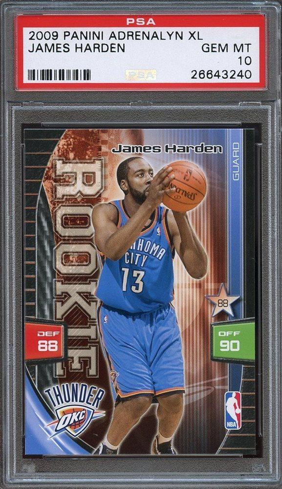 2009-10 studio #135 JAMES HARDEN houston rockets rookie card BGS BCCG 10 Graded Card