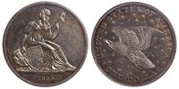 1836 Silver $1 J-60 Gobrecht Dollar Restrike ANACS PR61