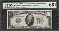 1934A $10 Richmond Federal Reserve Note - PMG Gem Uncirculated CU 66EPQ - C2C