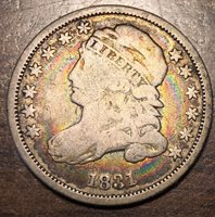 1831 10C Capped Bust Dime