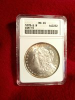 1878s MORGAN SILVER DOLLAR ANACS MS 65 VAM 15