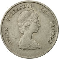 Coin, East Caribbean States, Elizabeth II, 25 Cents, 1989, EF(40-45)