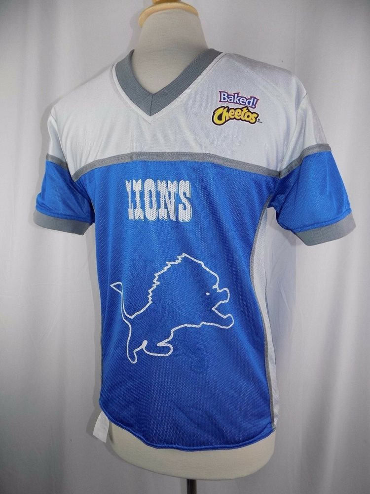 the best attitude 27f45 3ad91 Detroit Lions Reversible NFL Flag Football Jersey Adult Small Baked Cheetos