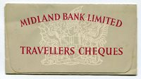 UNITED KINGDOM - Circa 1950 - Original Travellers Cheque Holder - MIDLAND BANK LIMITED - as Shown