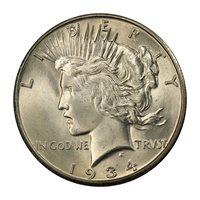 1934-S $1 MS65 PCGS