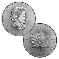 2014 Canadian Maple Leaf - 1 Troy Ounce .9999 Silver BU