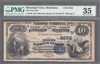 FR.# 546 1882 DB NATIONAL BANKNOTE, MOUNTAIN VIEW OKLAHOMA, CHARTER# 5656 RARE