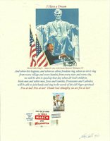 1963 MARCH ON WASHINGTON, MARTIN LUTHER KING JR, CHRIS CALLE DESIGNED FDC
