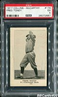 1917 E135 Collins-McCarthy FRED TONEY PSA 5 EX Just ONE higher!