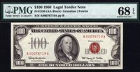 $100 1966 Legal Tender FR 1550 PMG 68 EPQ - ONE OF THE FINEST KNOWN
