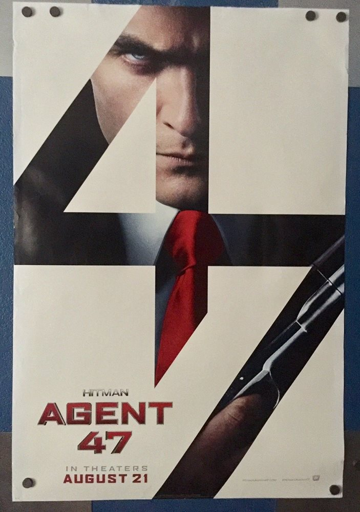 Hitman Agent 47 2015 One Sheet 2 Sided Theatre Movie