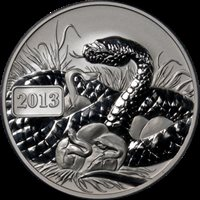 2013 Tokelau Silver $5 PCGS MS70 Year of the Snake Blue Label - STOCK