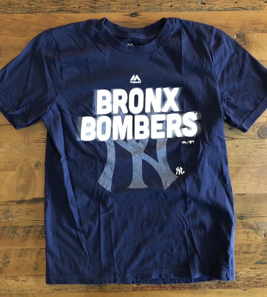 NY Yankees BRONX BOMBERS T-Shirt Youth Size Large 14 16 a3e12ce0889