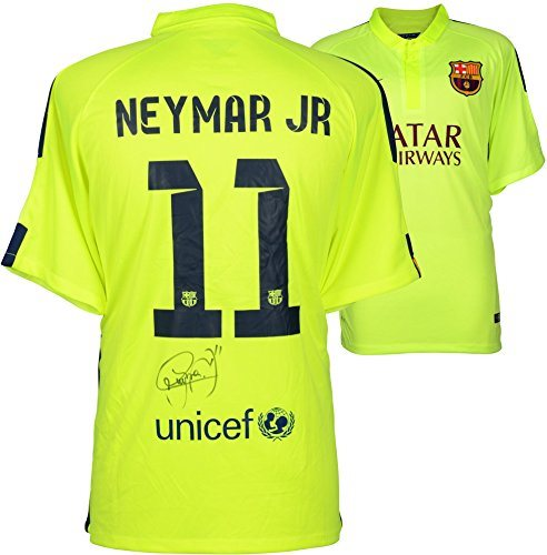 03446bc3321 Neymar Santos Autographed Barcelona FC Alternate Green Jersey - Fanatics  Authentic Certified - Autographed Soccer Jerseys. Click To Enlarge