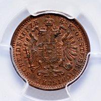 KREUZER 1891 AUSTRIA, PCGS MS64 BN