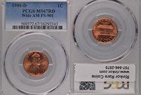1988-D MS67 Wide AM PCGS 1¢