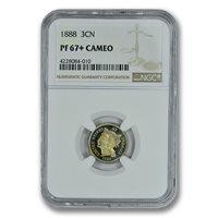 1888 3CN Three Cent Nickel NGC PR67+ CAMEO PQ PLUS TONER TOP POP ZERO FINER