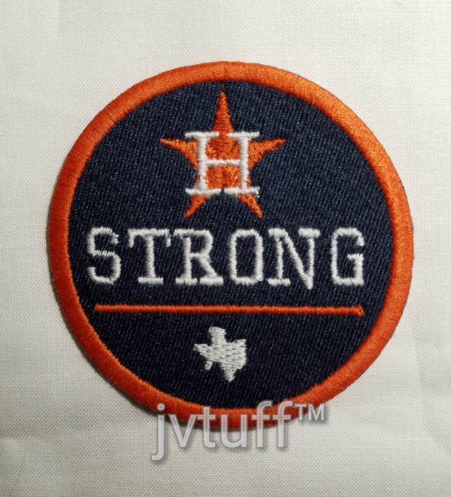6b21864c494 MLB 2017 Houston Strong Jersey Patch Astros Iron   Sew