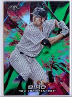 2018 Topps Fire 30 Greg Bird green foil parallel 018/199 Yankees