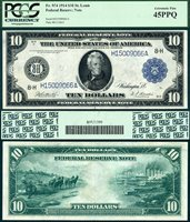 US Currency 1914 $10 Federal Reserve Note FR-934