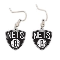 BROOKLYN NETS NBA DANGLE EARRINGS