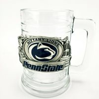"Penn State Nittany Lions Glass Mug Beaver Stadium Old Main 5"" Tall Heavy"