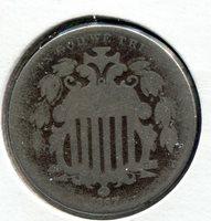 1867 5C Shield Nickel - Lot # NS 155