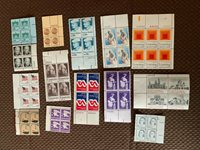 1970s US postage mint plate block collection of 48 mint blocks.