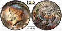 1968-D 50C KENNEDY HALF DOLLAR PCGS MS65 ** CRAZY TONING **