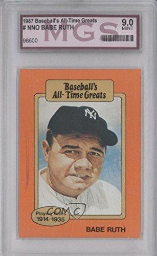 Babe Ruth Baseball Card 1987 Hygrade Baseballs All Time Greats Baru2