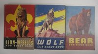 Vtg 50's 60's Lot Cub Scout Books Manuals WOLF LION-WEBELOS BEAR Boy Scouts