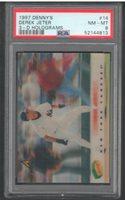 1997 Denny's Derek Jeter 3D Holograms #14 PSA 8 | New York Yankees | HOF