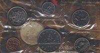 1985 Canada PL Set (6 Coins Cent to $1). MINT UNC.