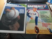 1986 Montreal Expos Program and Expos VS Pirates Scorecard